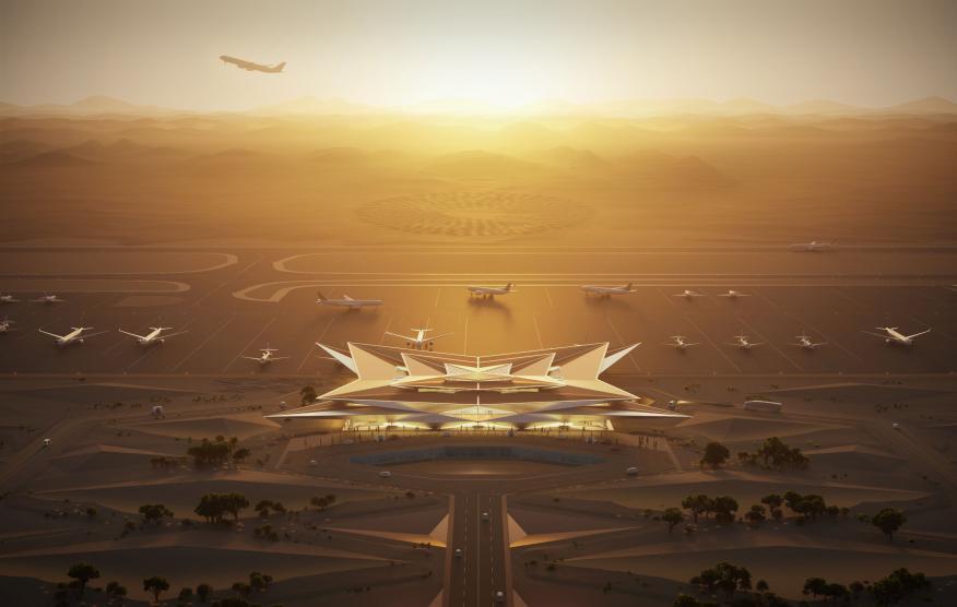 El aeropuerto de Amaala.