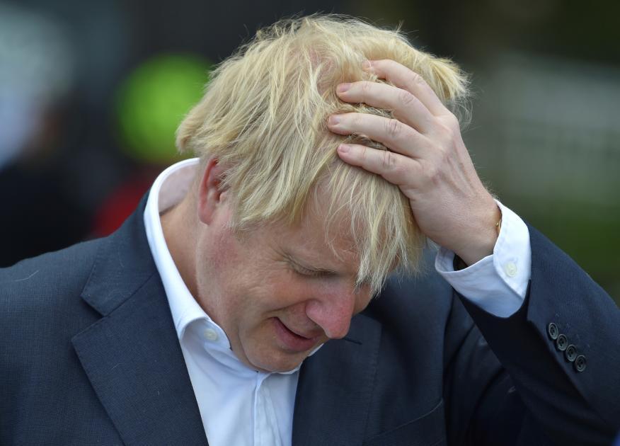 El primer ministro británico, Boris Johnson, quien dio positivo por coronavirus.