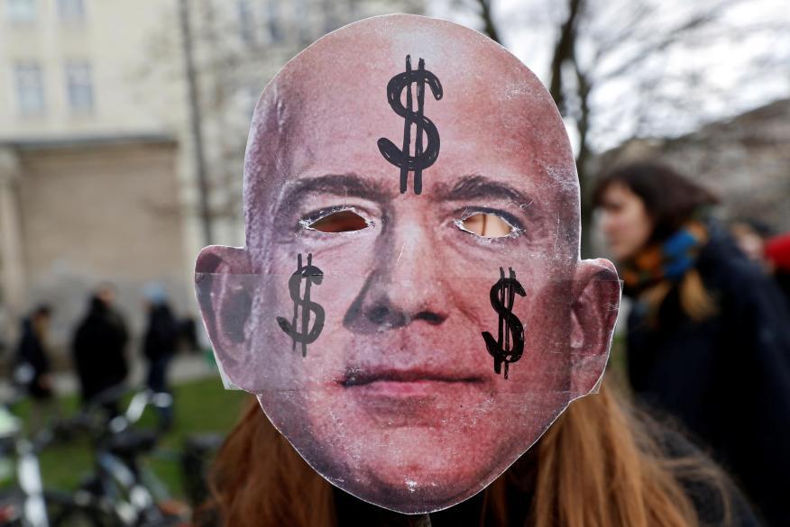 Careta de Jeff Bezos, CEO de Amazon.