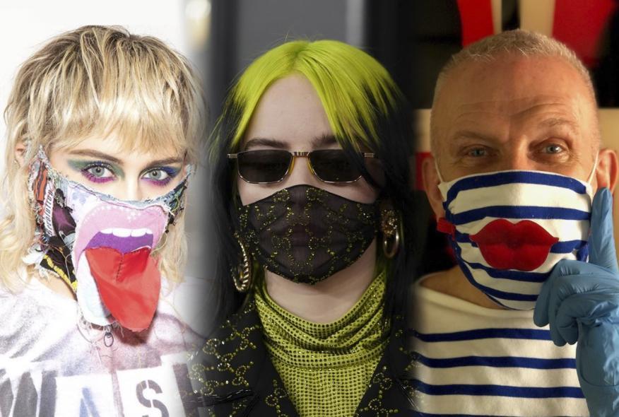 De izquierda a derecha: Miley Cyrus, Billie Eilish y Jean Paul Gaultier.
