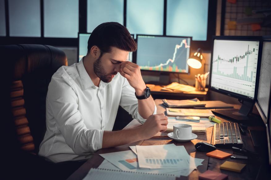 Inversor preocupado