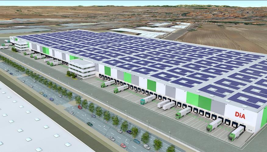 Proyección gráfica de cómo será el centro logístico de Día en Illescas (Toledo)