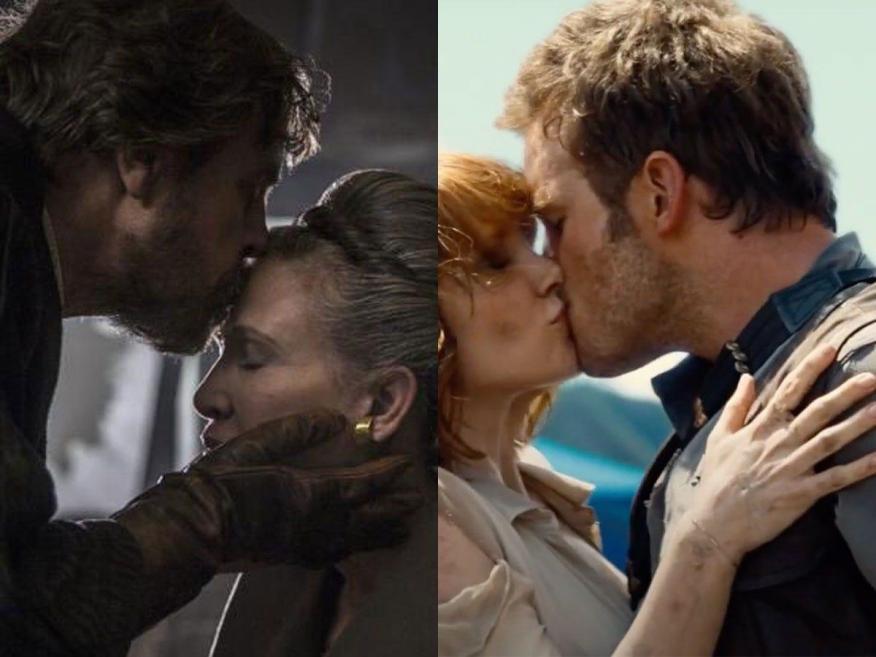 Estos 2 besos de 'Star Wars: Los últimos Jedi' y 'Jurassic World' no estaban en el guión.