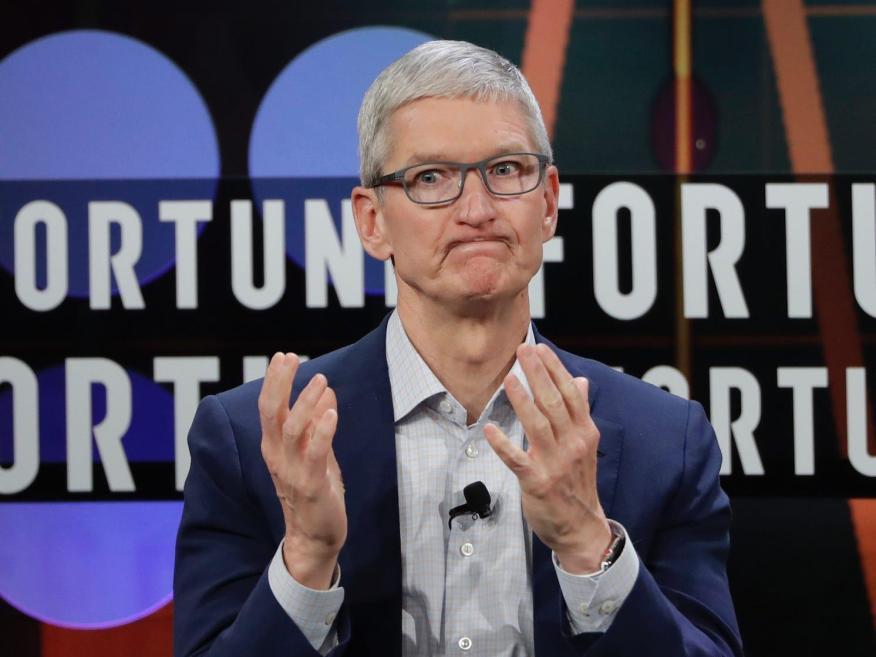 Apple CEO Tim Cook. Marcio Jose Sanchez/AP