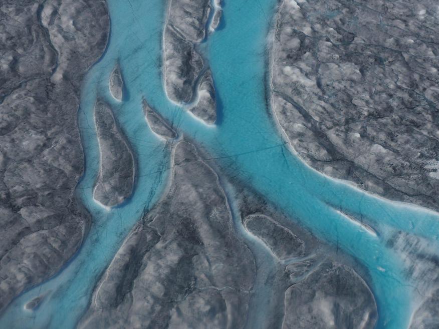 """La capa de hielo derretida de Groenlandia """"ha pasado el punto de no retorno"""", según los científicos, que la condenan a desaparecer."""