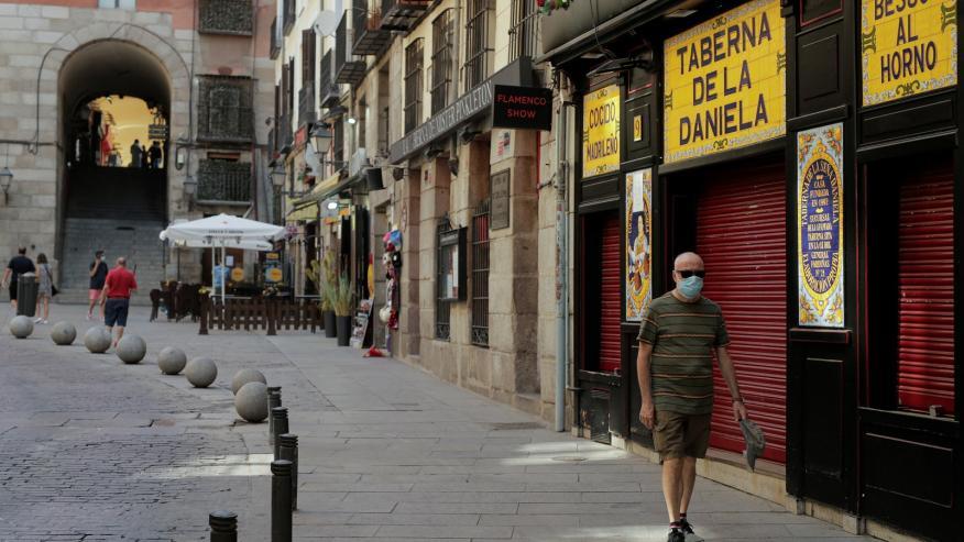 Imagen de la pandemia de coronavirus en Madrid.