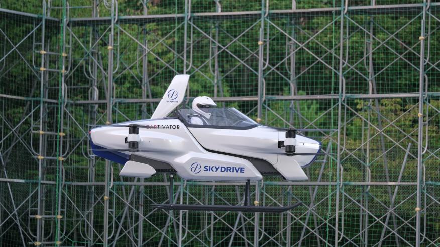 El primer coche volador de SkyDrive.