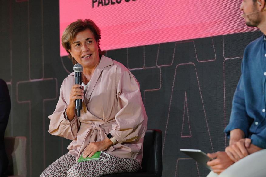 La consejera delegada de Iberdrola España, Ángeles Santamaría, durante su intervención en el encuentro FÓRUM.