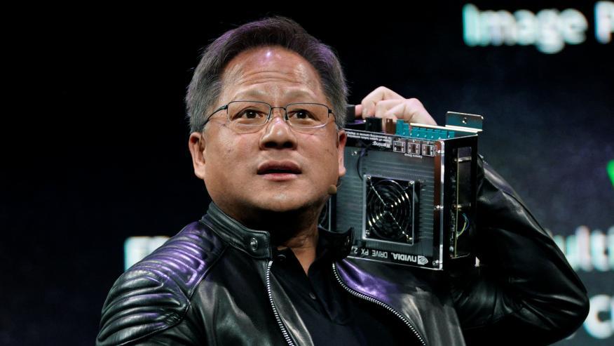 Jensen Huang, CEO de Nvidia, en un CES de Las Vegas en 2018.