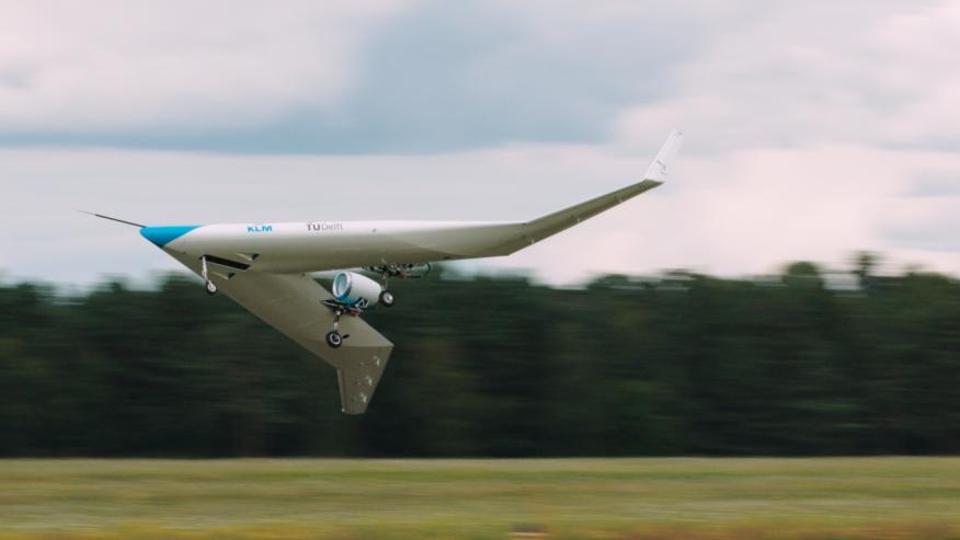 KLM: avión en forma de V