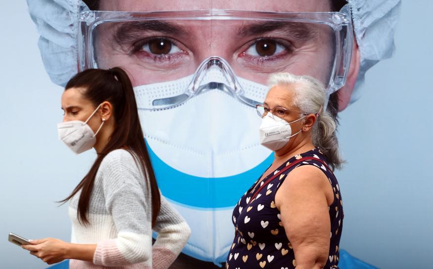 Un mural sobre el coronavirus en España