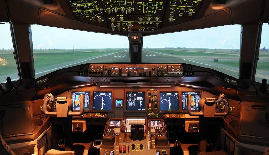 Uno de los simuladores de Thai Airways.