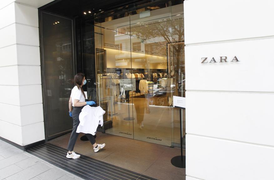 Trabajadora de Zara