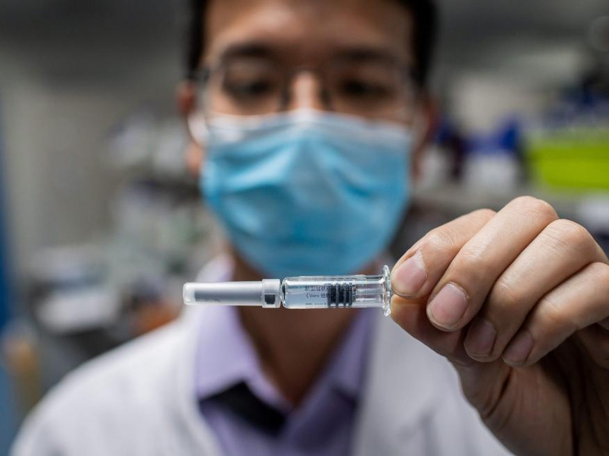 China says it could have a coronavirus vaccine ready to use as early as November