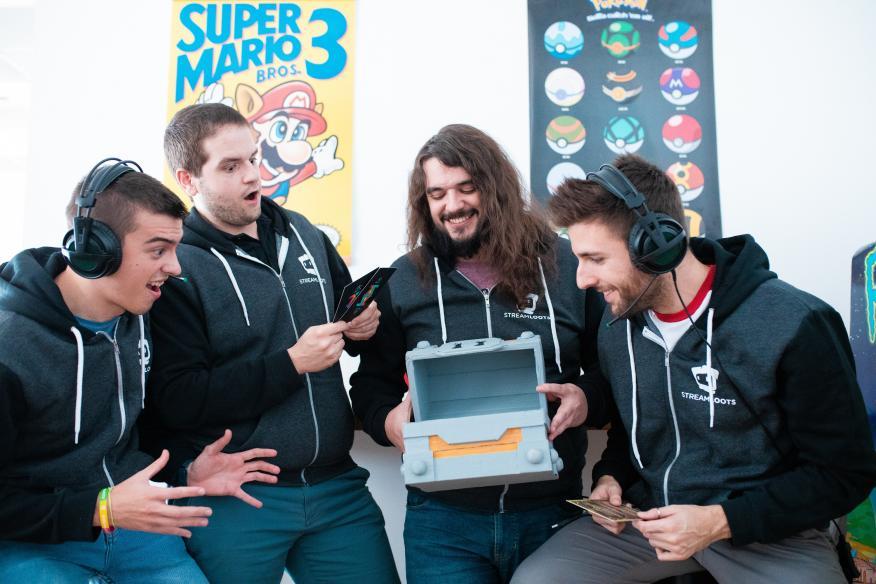 Los fundadores de la startup española Streamloots: Vicent Martí (i), José Miguel González, Javier Pastor y Alberto Martínez (d).