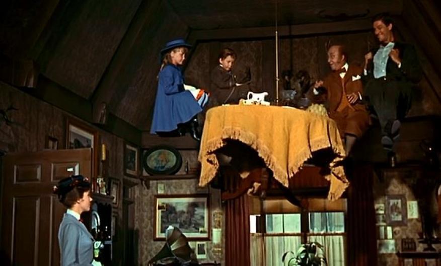 Escena de la película 'Mary Poppins' (1964).