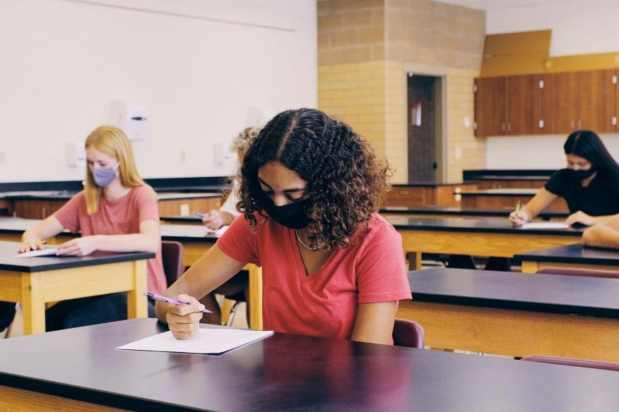 social distanced classroom