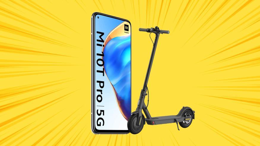 Xiaomi Mi 10t Pro y patinete