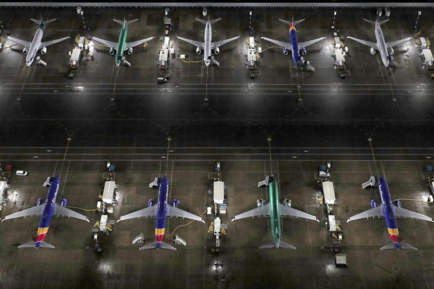 Aviones aparcados