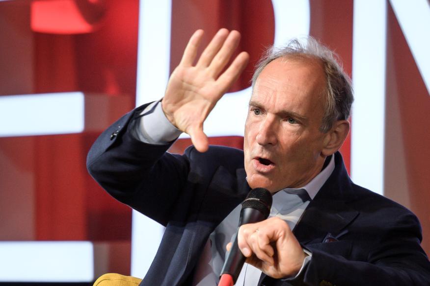 El creador de la World Wide Web, Tim Berners-Lee, en un evento en Suiza