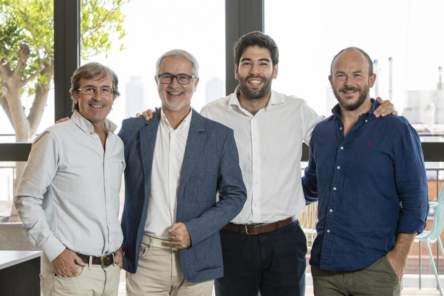 El equipo fundador de bnc10, formado por David Muntanyà, Manel Vallet, Albert Llorens y William McCahey.