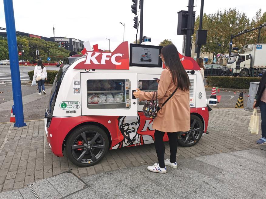 Food truck autónomo de KFC.