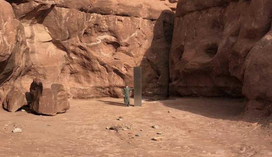 Monolito en el desierto de Utah
