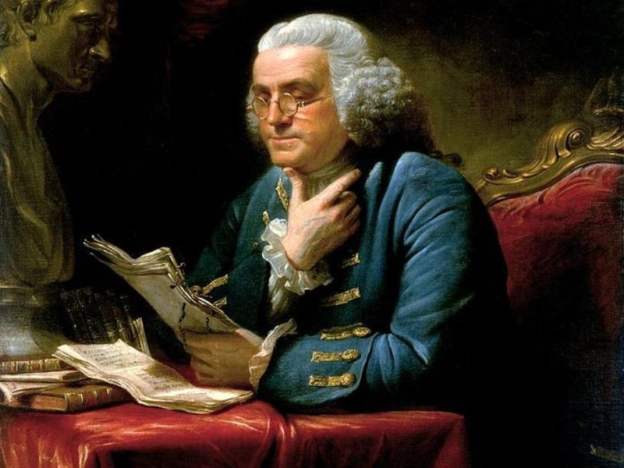 El político y científico estadounidense Benjamin Franklin