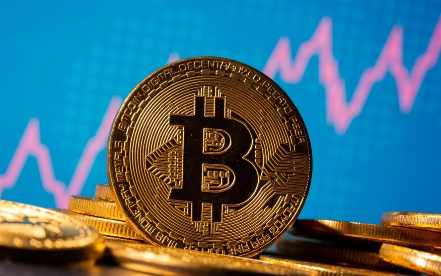 Representación de bitcoin