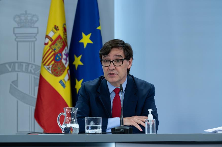 Salvador Illa, ministro de Sanidad, durante una rueda de prensa.