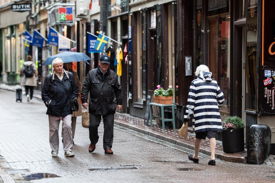 Calles de Old Town, Estocolmo, Suecia.