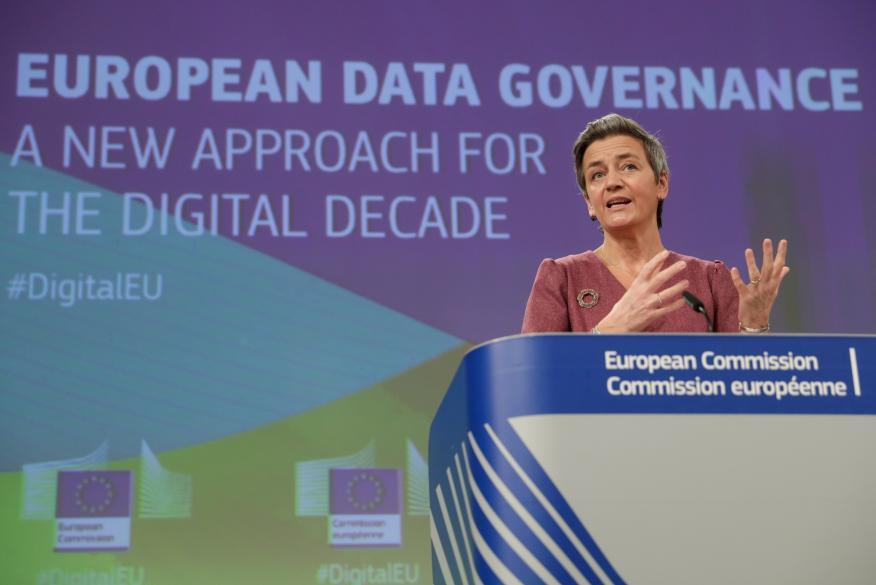 La comisaria de competencia de la UE, Margrethe Vestager