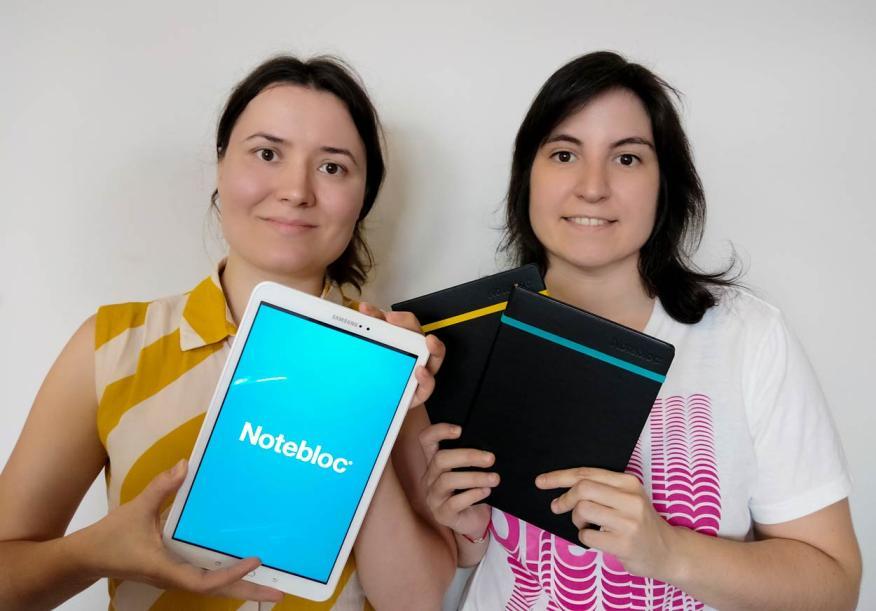 María Trullàs y BenteMalmberg, fundadoras de Notebloc