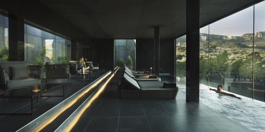 Imagen del spa del hotel Vivood, en Alicante