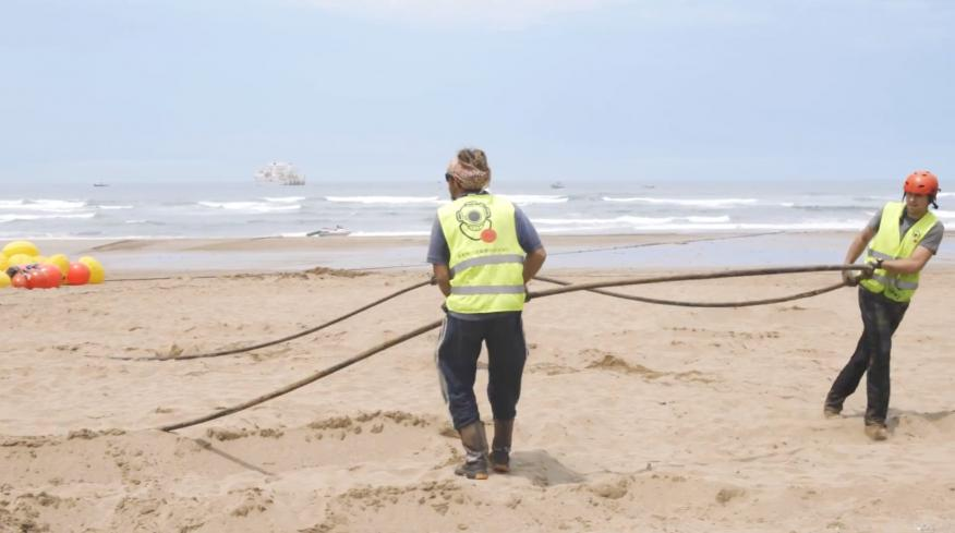 Instalación del cable Marea.