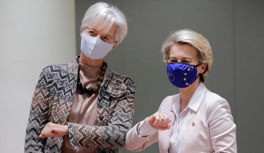 La presidenta del BCE, Christine Lagarde, y la de la Comisión Europea, Ursula von der Leyen