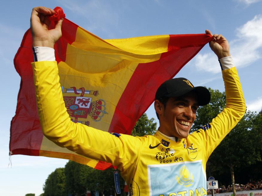 El ciclista Alberto Contador