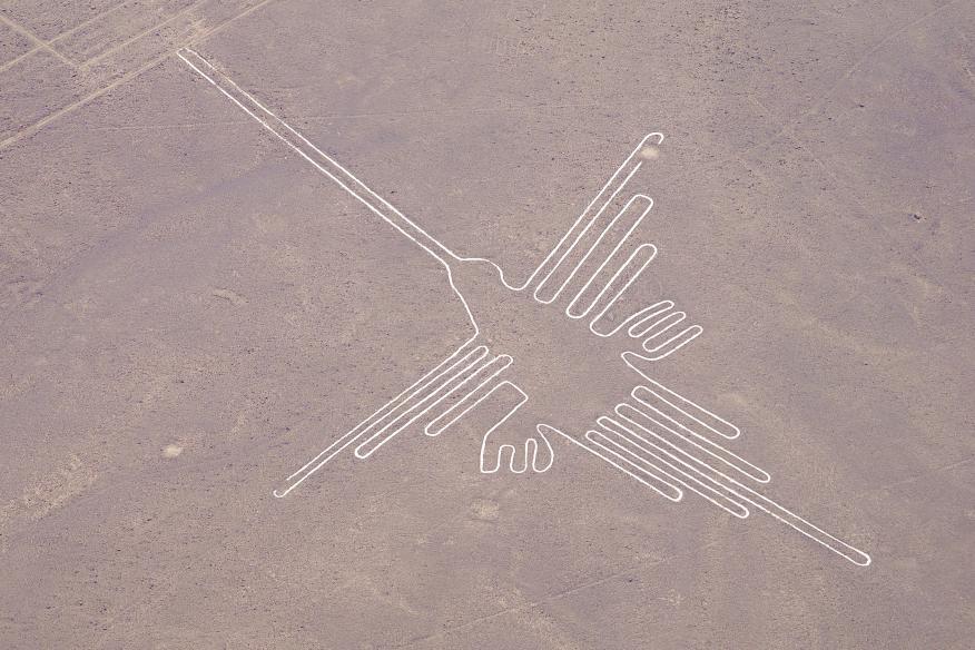 Detalle de un geoglifo de las Líneas de Nazca (Perú).