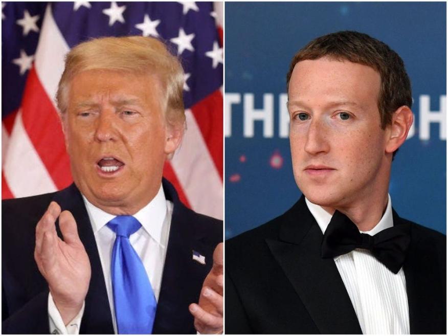 Donald Trump y Mark Zuckerberg