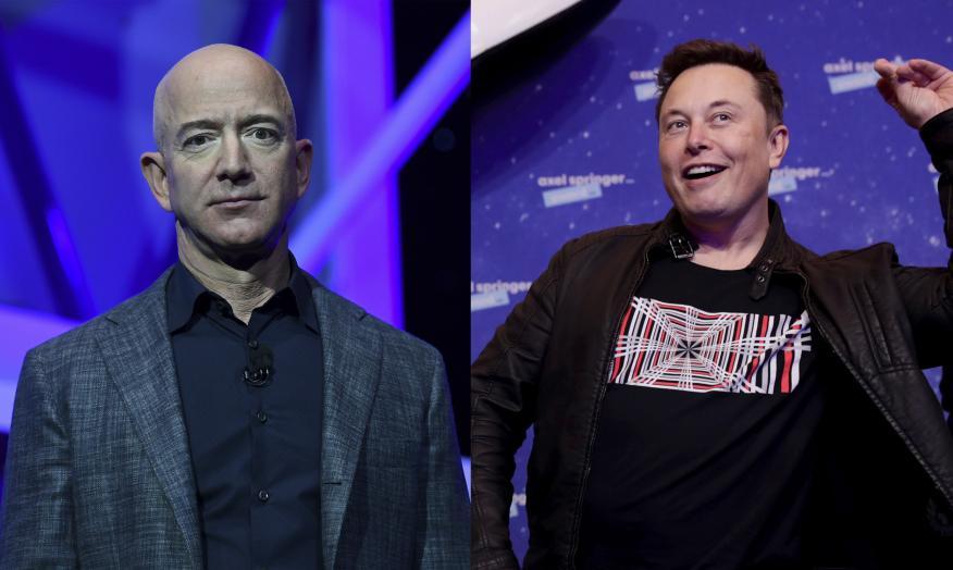 Jeff Bezos y Elon Musk