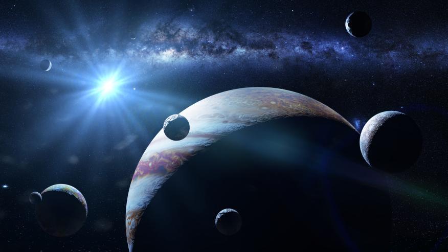 Júpiter con sus lunas