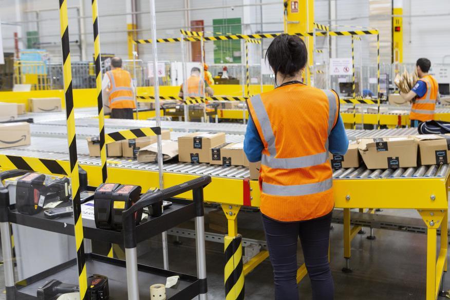 Trabajadores de Amazon en España