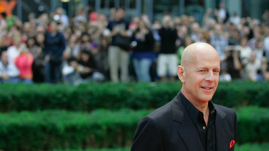Bruce Willis en la presentación de La Jungla 4 en Alemania.