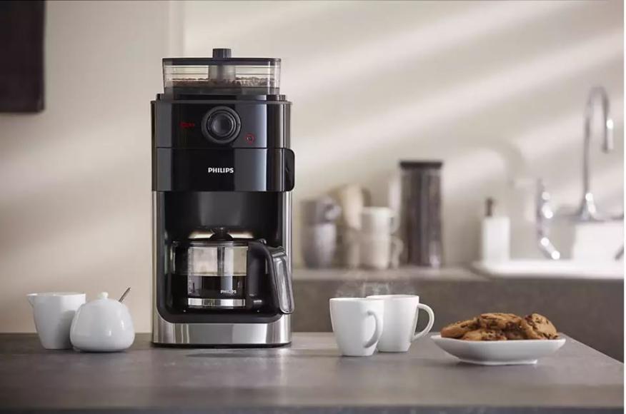 Cafetera Philips con molinillo