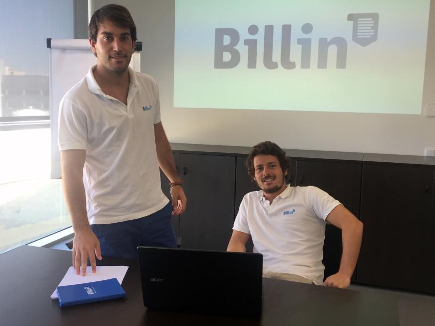 Los fundadores de la startup española Billin