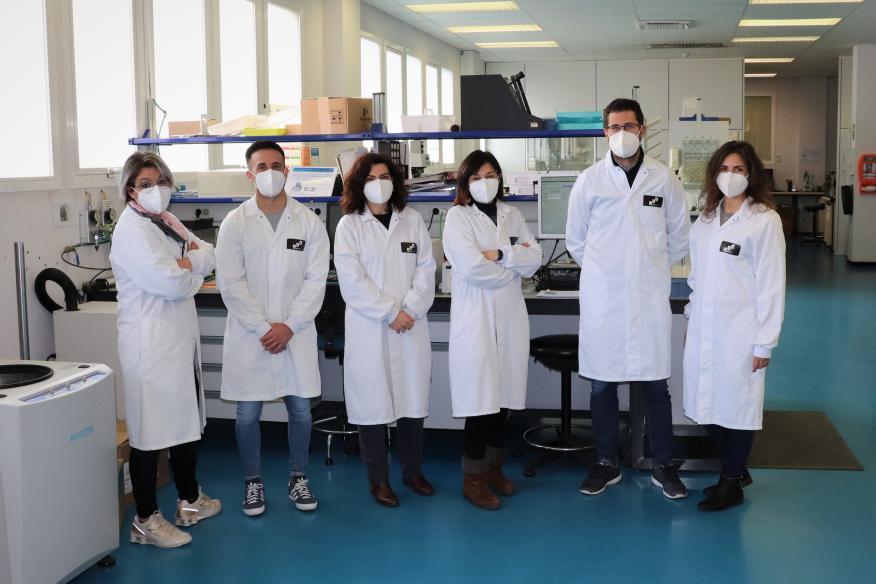 Los 6 integrantes del grupo de investigación de reciclaje de mascarillas FFP2 de ITAINNOVA.