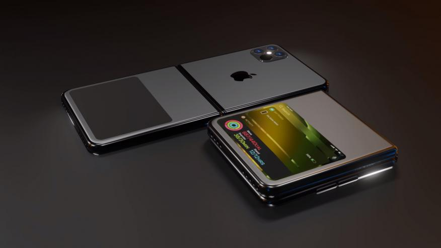 Concepto del diseño del iPhone plegable