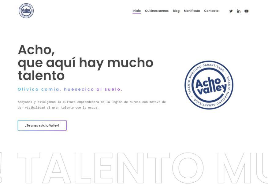 Página web de la asociación Acho Valley