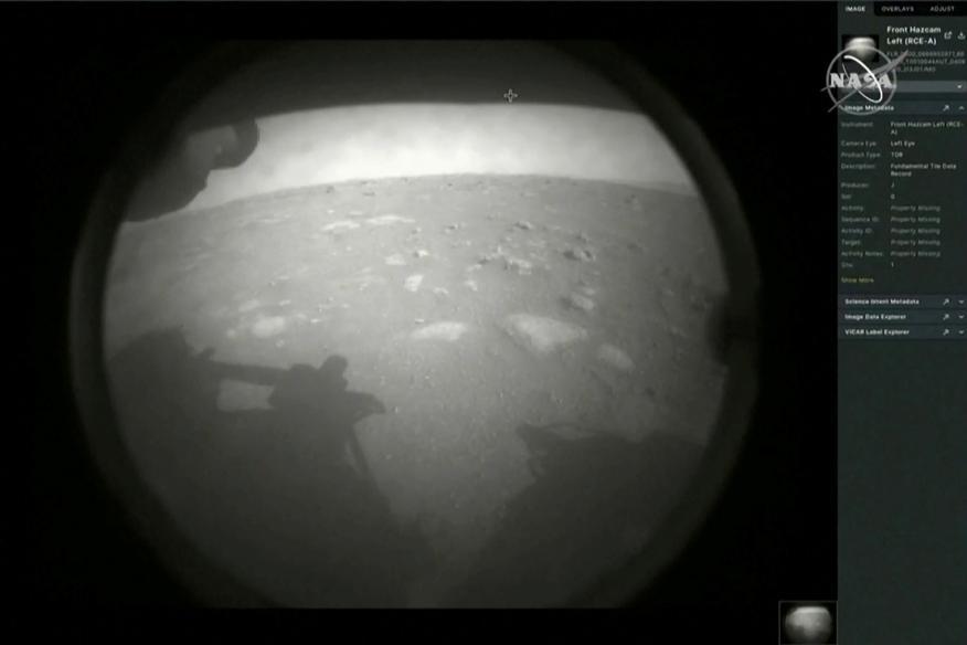 Las primeras imágenes de 'Perseverance' a su llegada a Marte