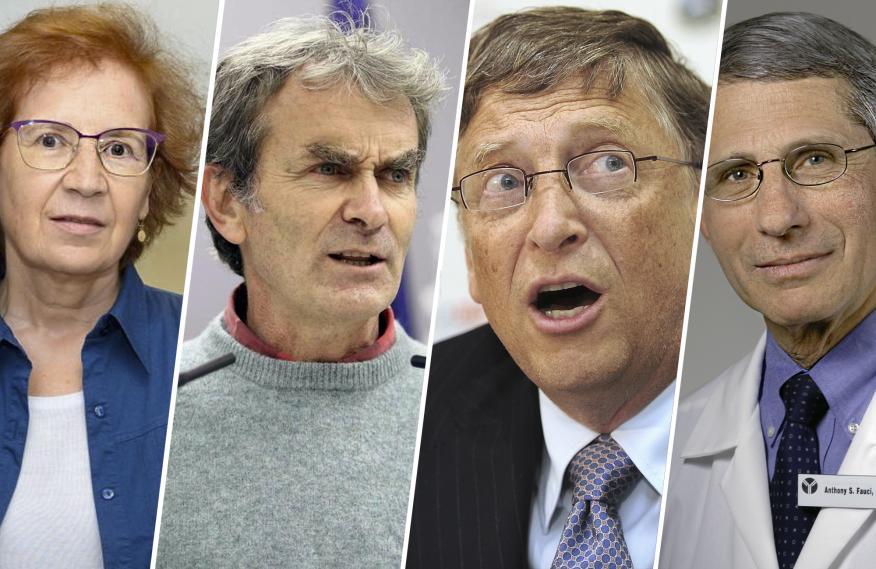 De izq a dcha: Margarita del Val, Fernando Simón, Bill Gates y Anthony Fauci.